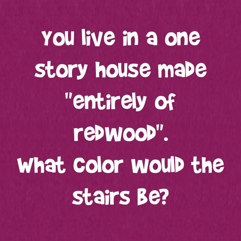 You Live in a One Story House Made