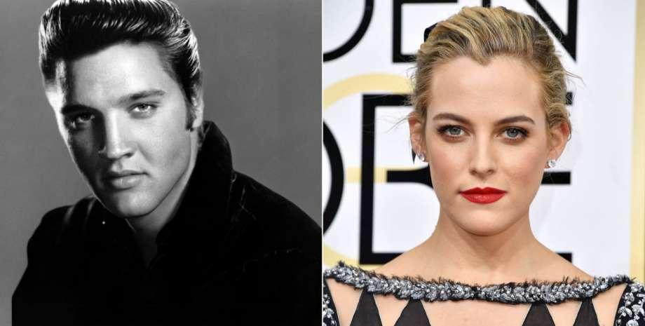 Elvis and Riley Keough