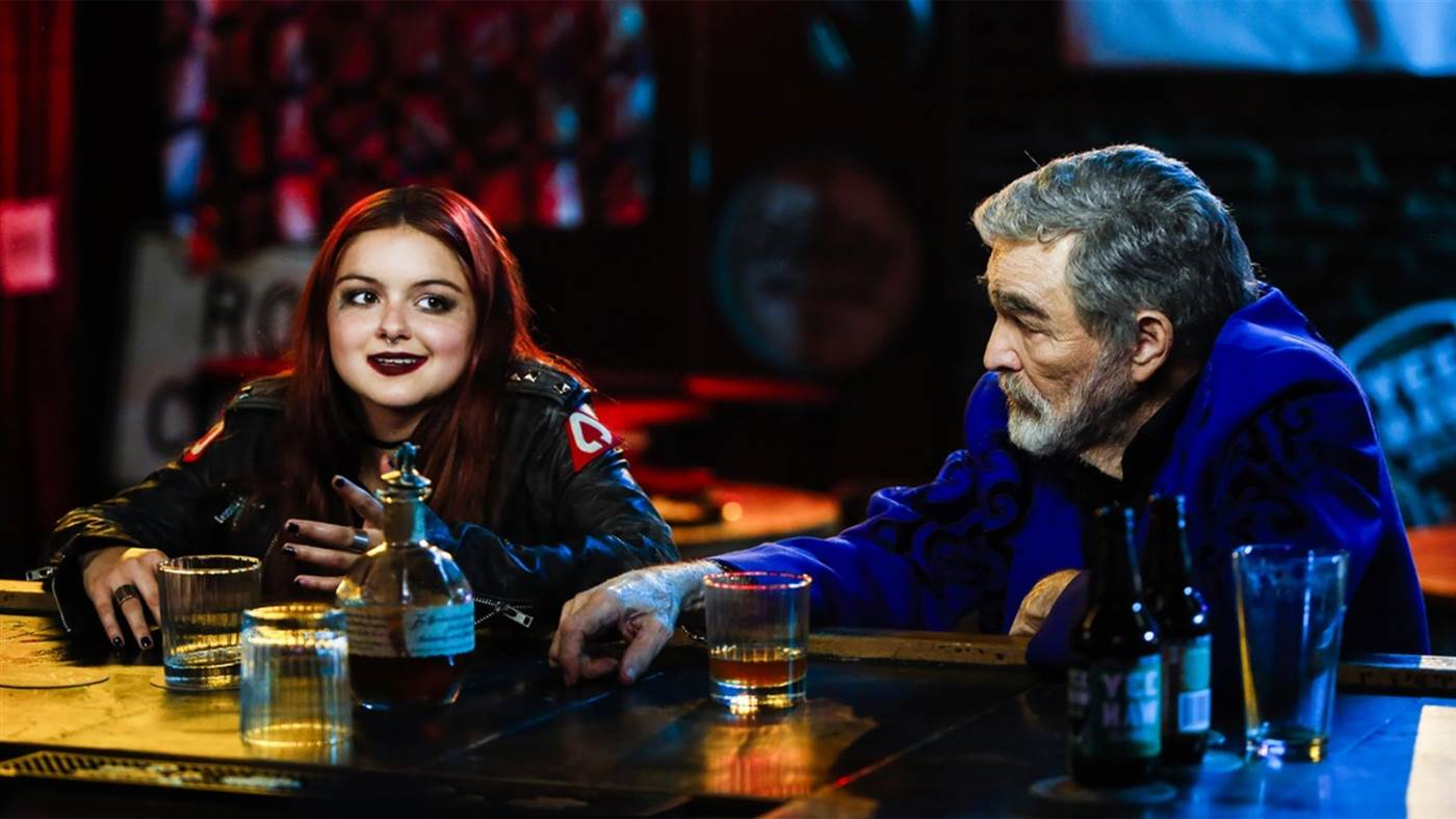 "Reynolds has a drink with the younger generation: Ariel Winter, in ""The Last Movie Star."" (Today.com)"