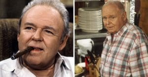Carroll O'Connor in the All in the Family cast and his final role