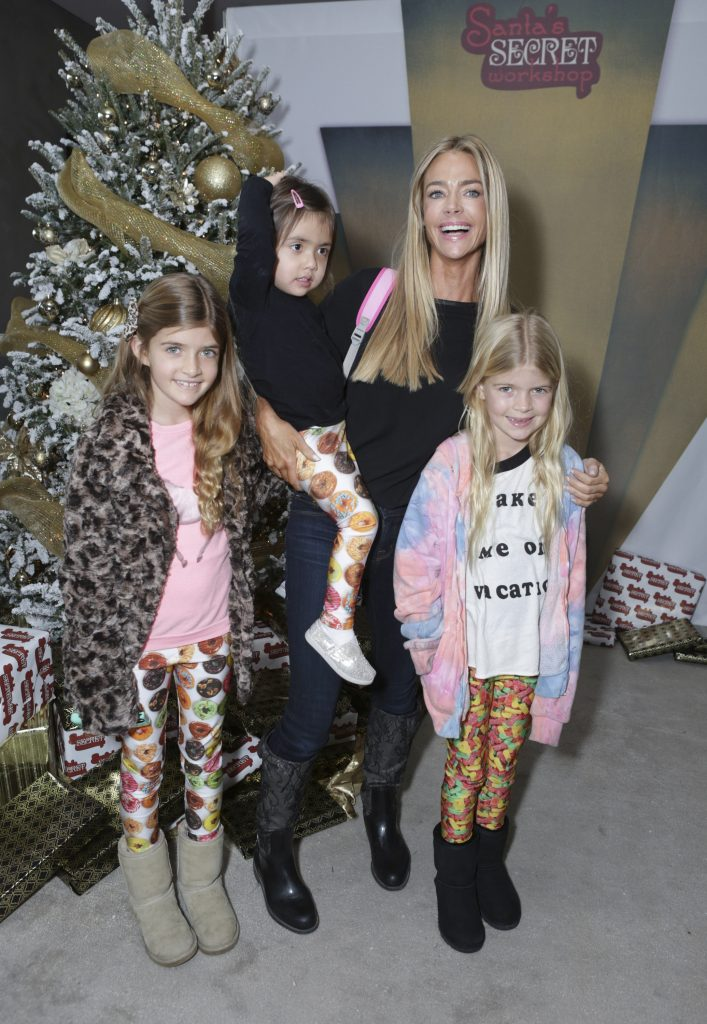 Denise Richards pictured with her 3 daughters