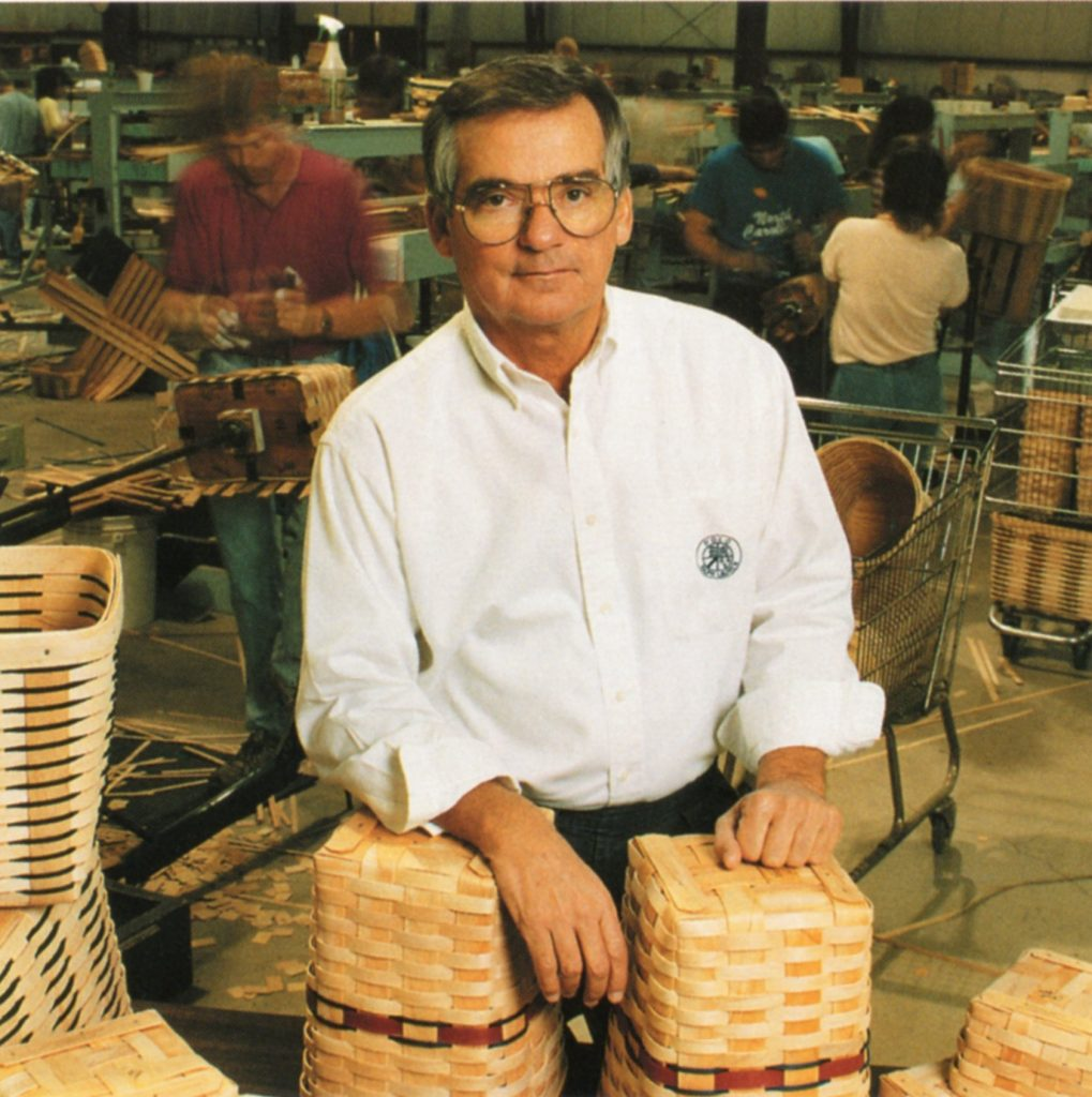 Founder Dave Longaberger in Ohio basket factory