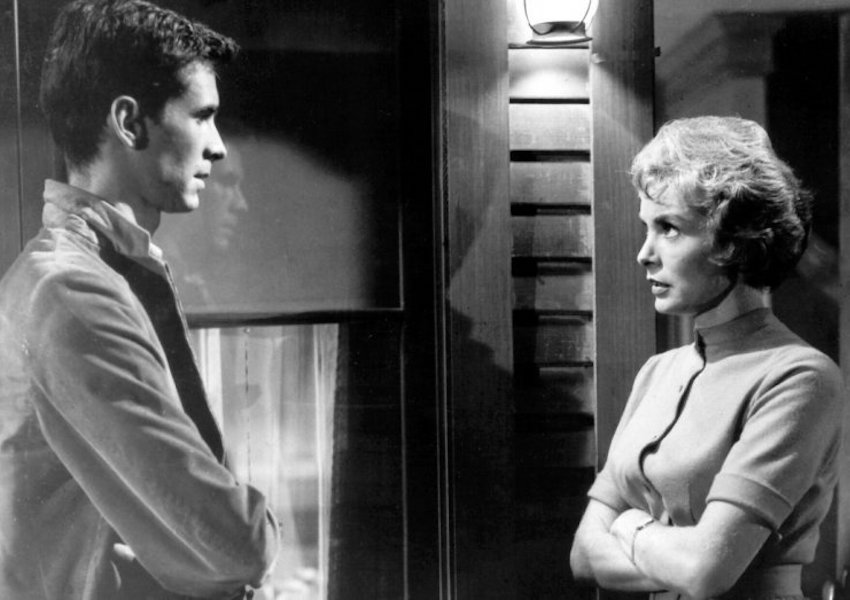 Janet Leigh and anthony perkins in psycho