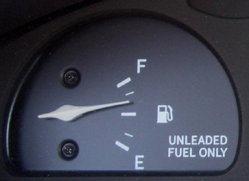 car gas gauge arrow
