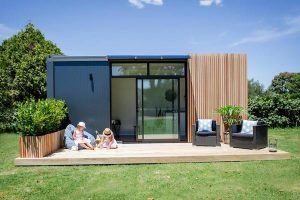a modern style Granny pod with a porch
