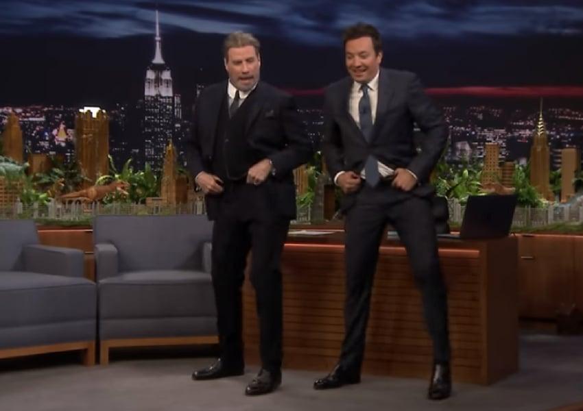 john travolta and jimmy fallon