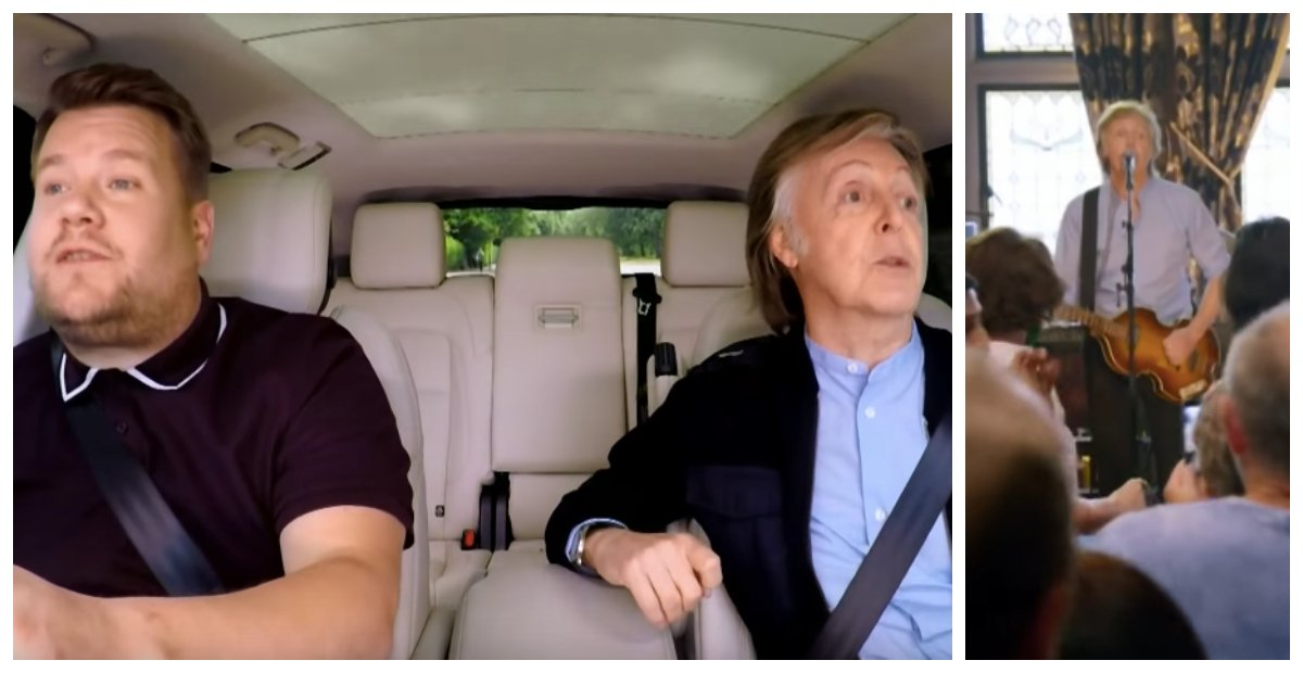 Paul McCartney Joins James Corden For 'Carpool Karaoke' And Opens Up About Emotional Beatles Song
