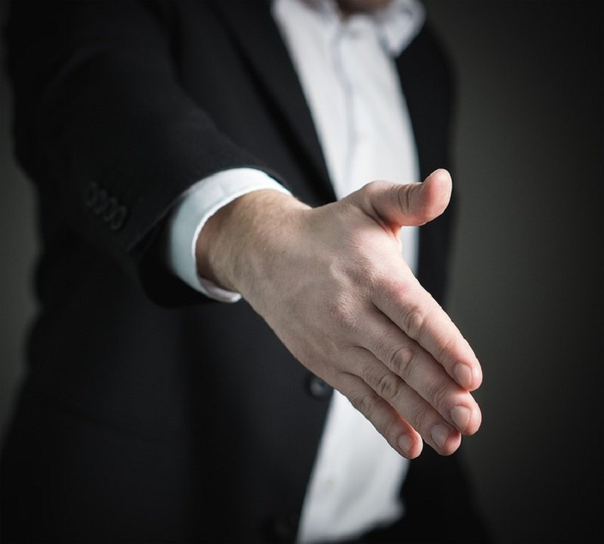 handshake hand gesture