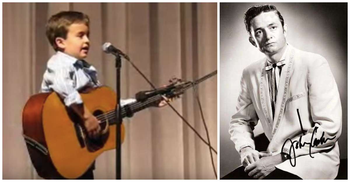2nd Grader Grabs His Guitar And Brings Down The House With A Johnny Cash Classic