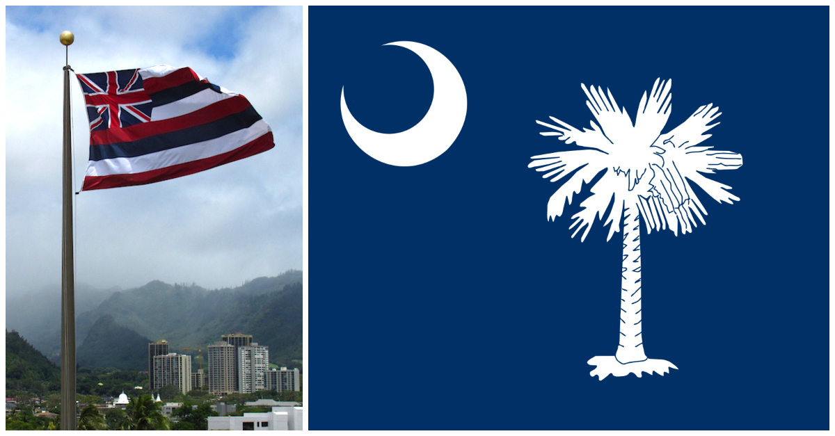 7 Of The Most Fascinating And Unique State Flags In America
