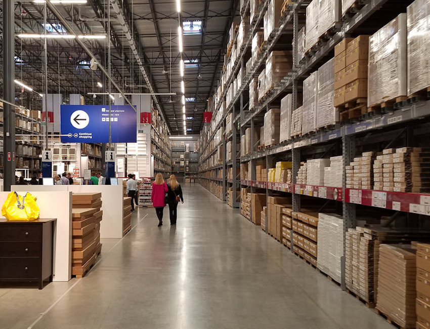 pick-up area in ikea
