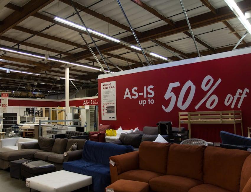 as-is bargain section in IKEA