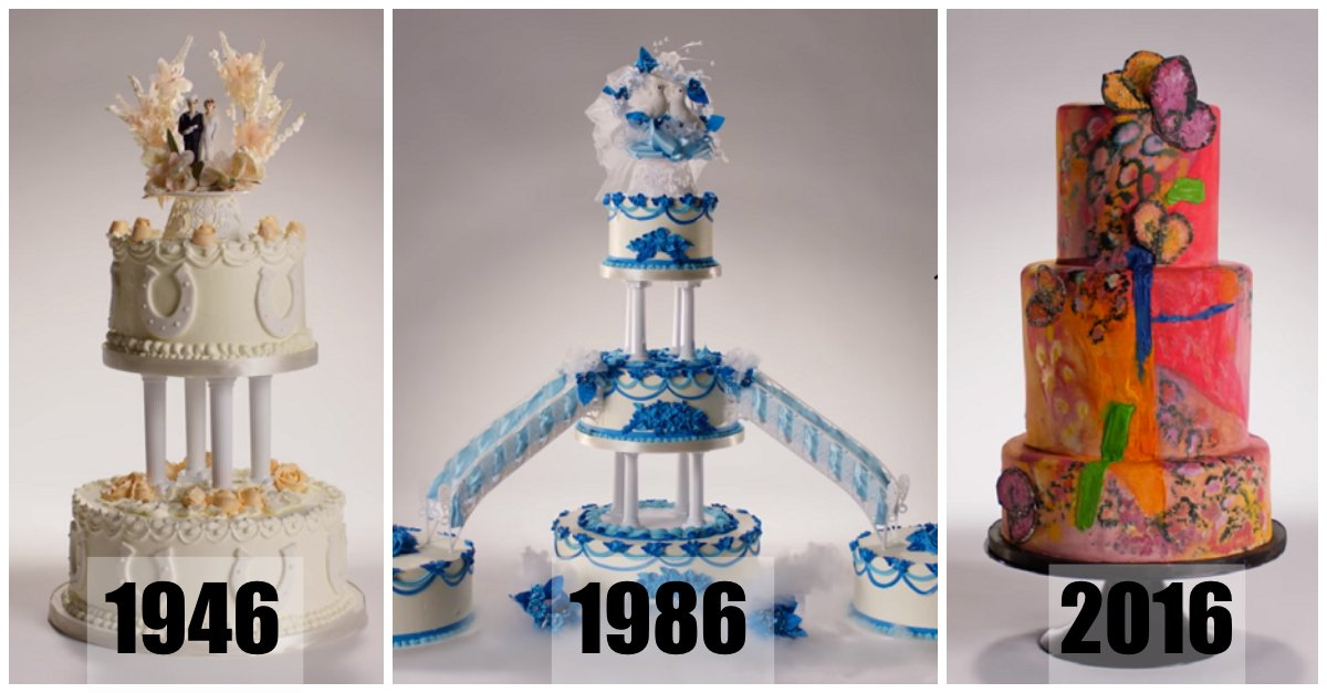Wedding Cakes From Different Decades