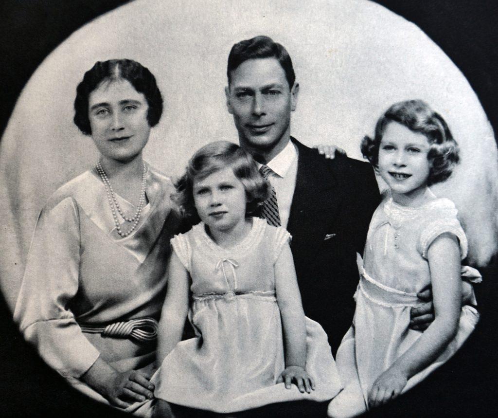 1920 Family Photo of Queen Elizabeth II and Princess Margaret