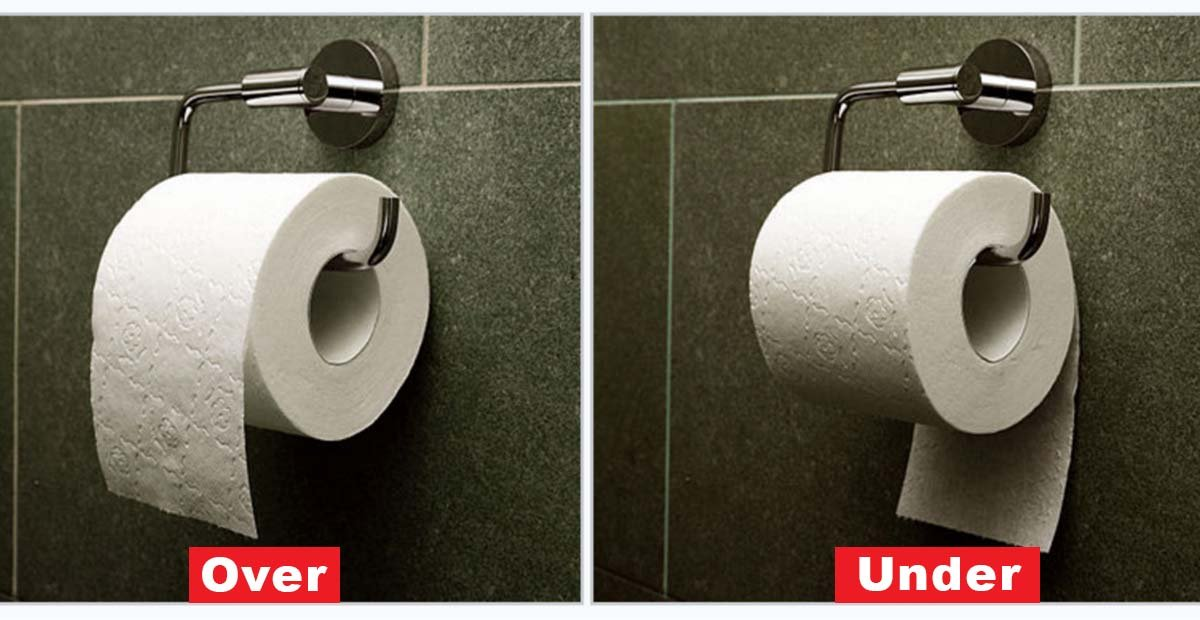Studies Show That There Is Actually A Correct Way To Hang Your Toilet Paper