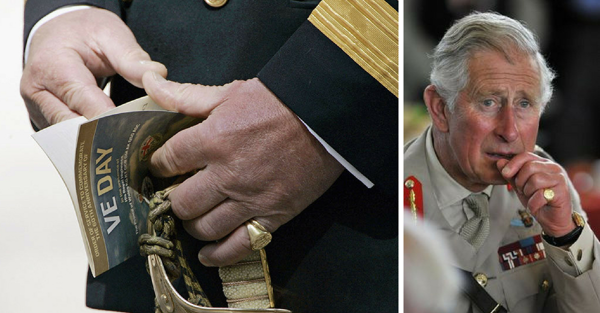 What Does Prince Charles Wear As A Wedding Ring