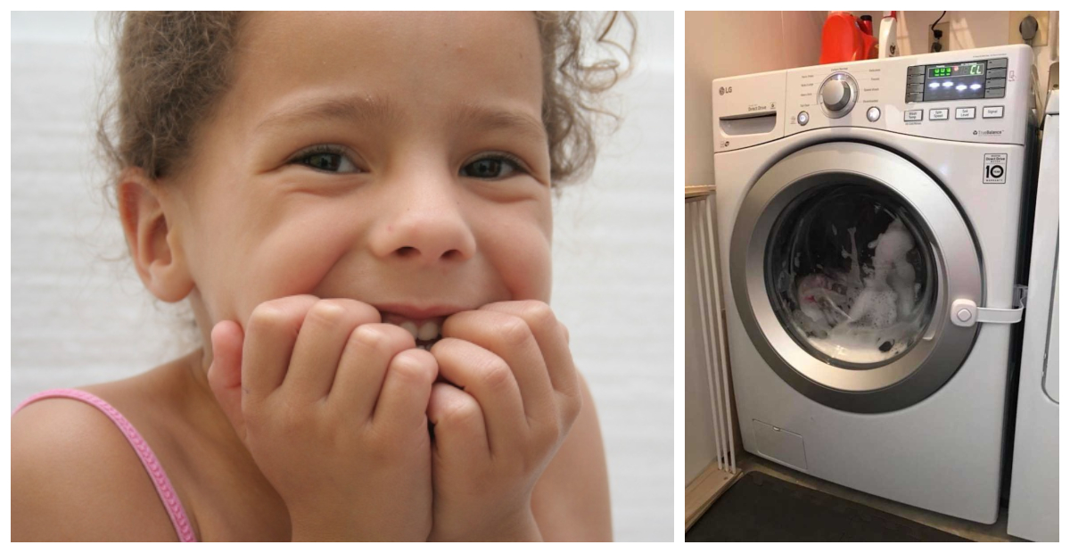 This Mom's Story Proves You Should Be Careful If You Have A Front-Facing Washer And Curious Kids