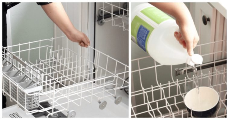 How To Use White Vinegar Disenfect Your Dishwasher Keep