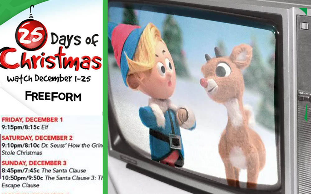 Christmas TV Lineup Is Here And They're Playing Christmas Movies For 55 Days Straight