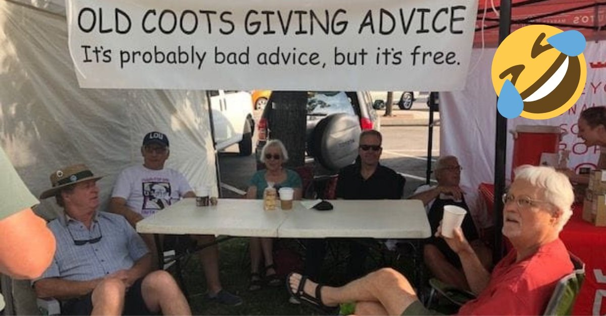 """""""Old Coots"""" Gang Sets Up Table At A Farmer's Market To Give Out Life Advice"""