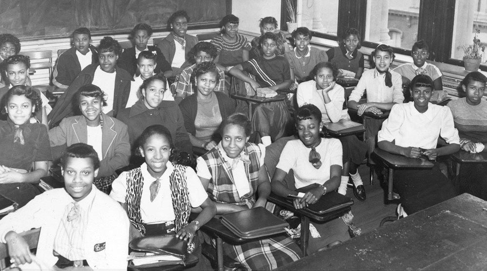 black students 1955