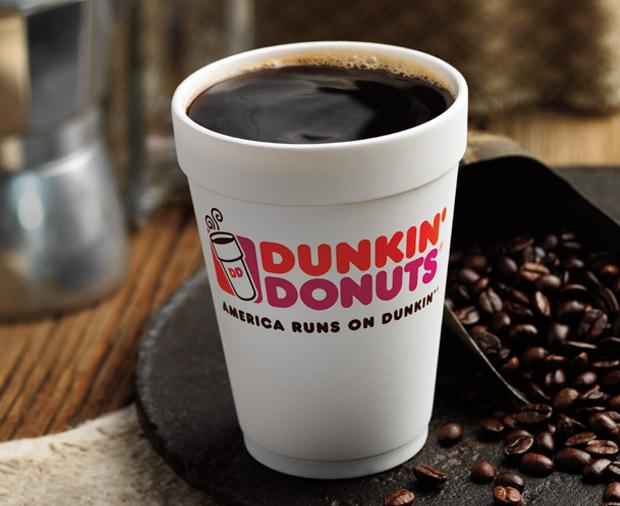 dunkin hot coffee