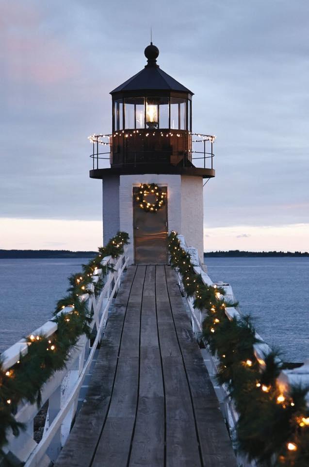 lighthouse small town christmas lights