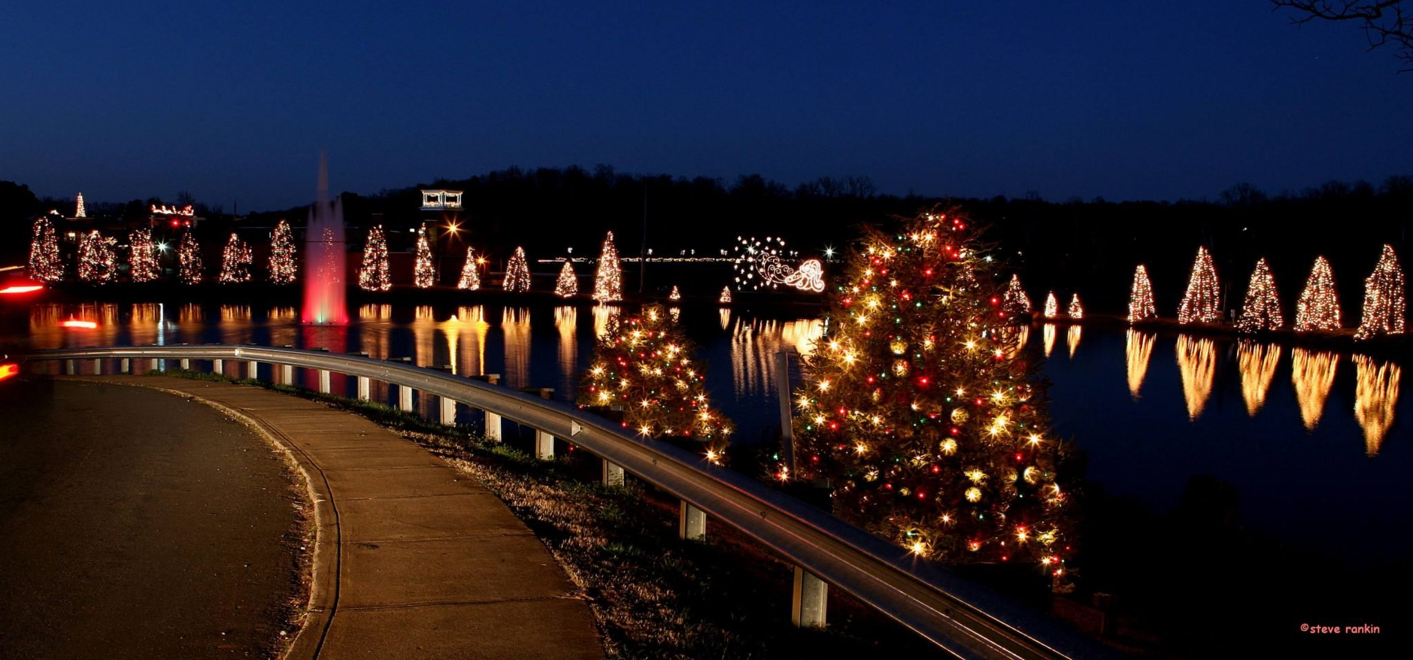 mcadenville small town christmas lights