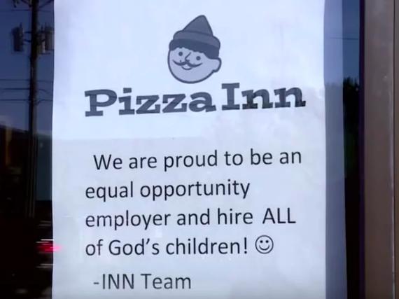 pizza inn sign