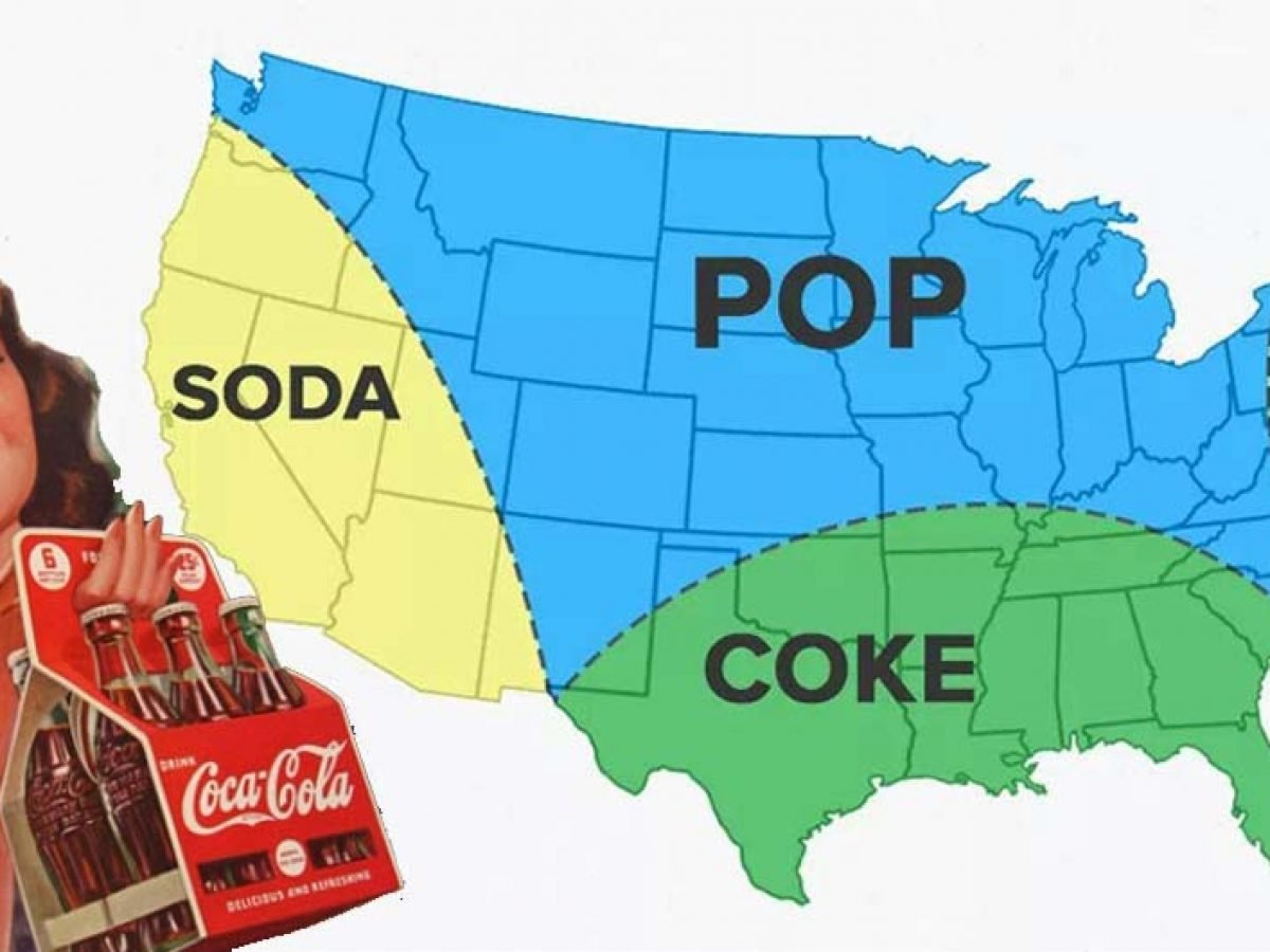 Soda Map Of The Us Do You Call It Soda, Pop, Or Coke?