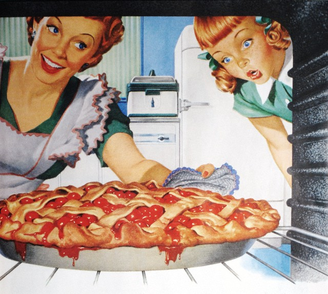 vintage pie making