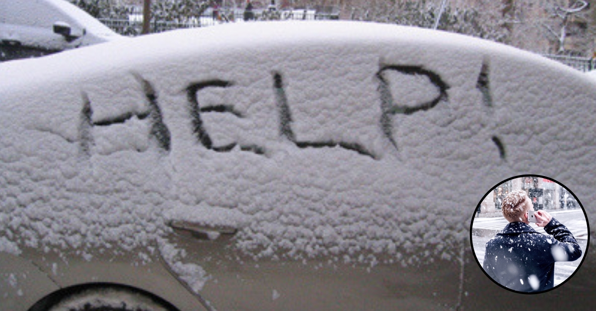 What To Do If You Are Stranded In Your Car During A Snowstorm