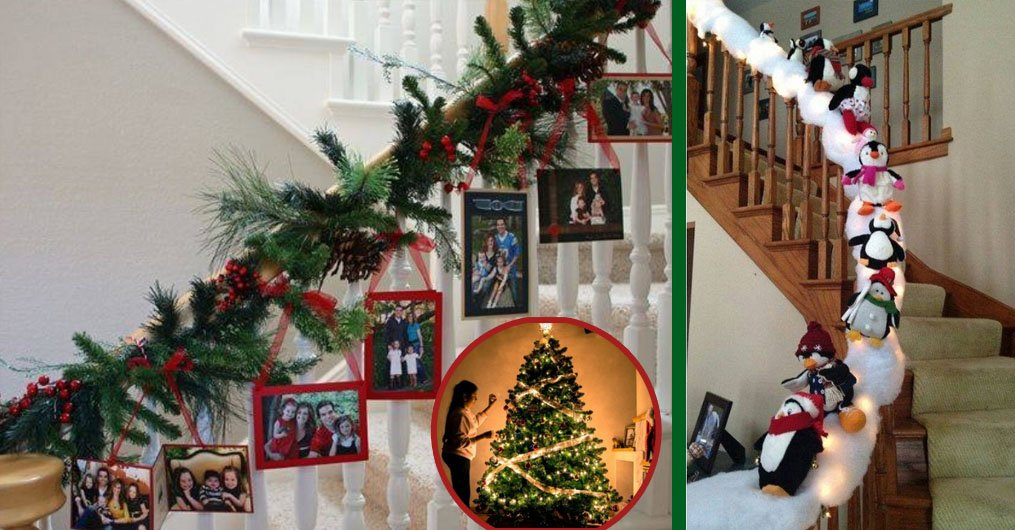 9 festive ways to decorate your stairs for christmas - How to decorate stairs for christmas ...