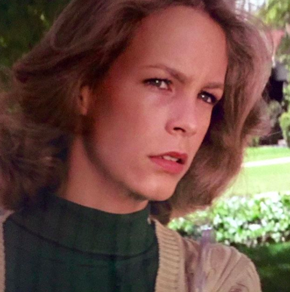Jamie Lee Curtis With A Serious Face
