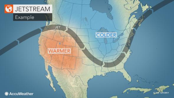 jet stream map united states The Weather Channel Warns That It'll Be A 'Brutal' Winter For A