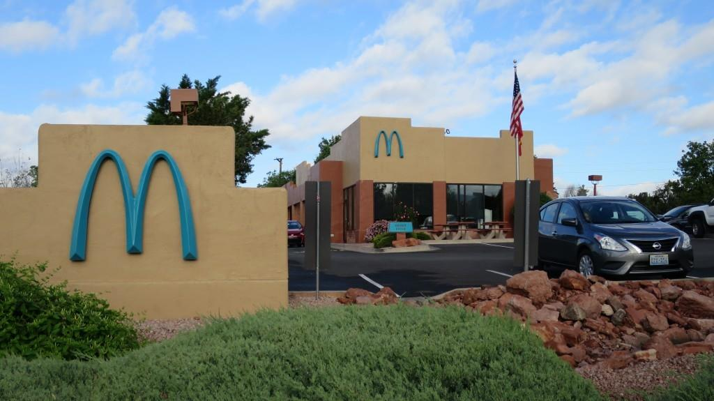 mcdonalds turquoise arch