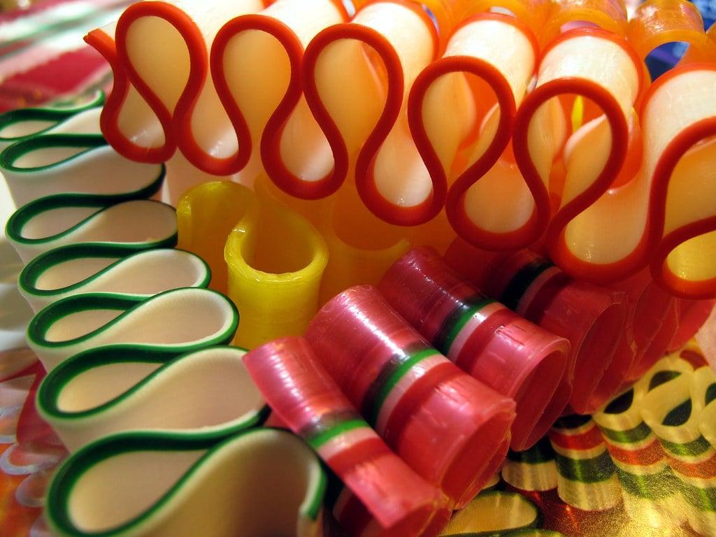 Ribbon candy during the holiday season!