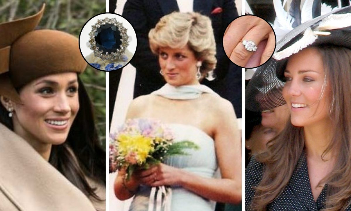 meghan markle and kate middleton have worn princess diana s jewelry meghan markle and kate middleton have