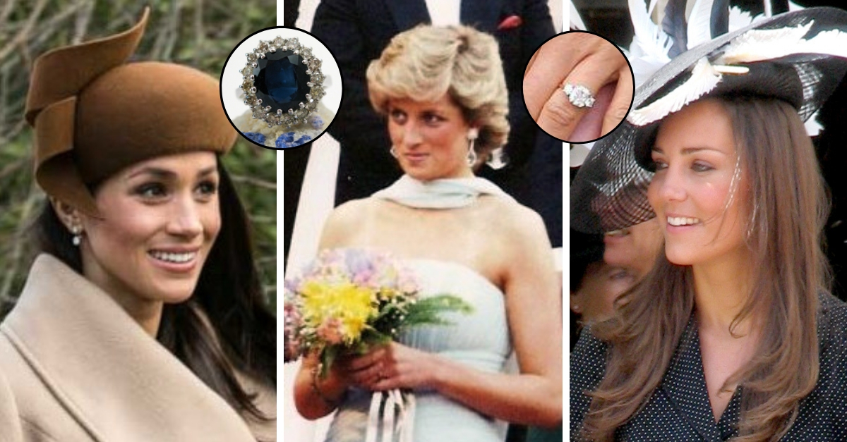 Glimpse Each Time Meghan Markle And Kate Middleton Have Worn Princess Diana's Jewelry