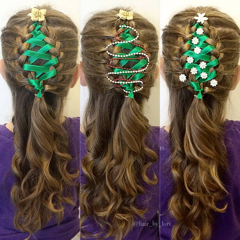 christmas tree braids