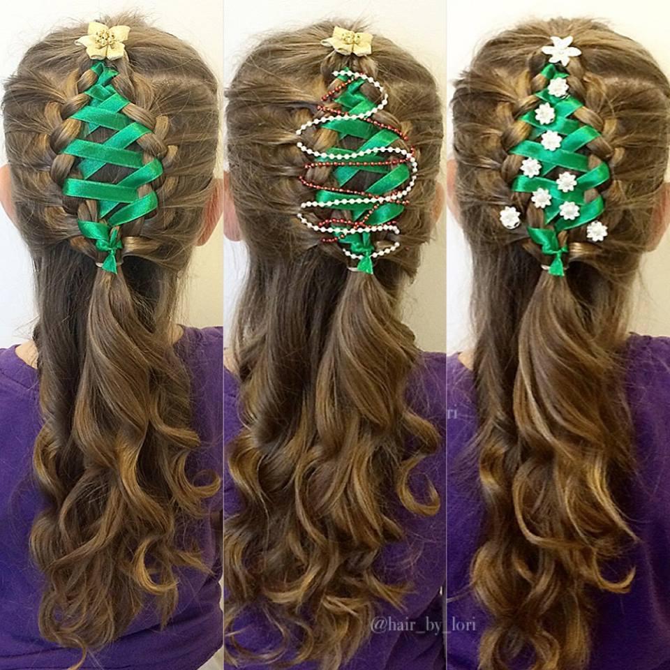 christmas tree braids