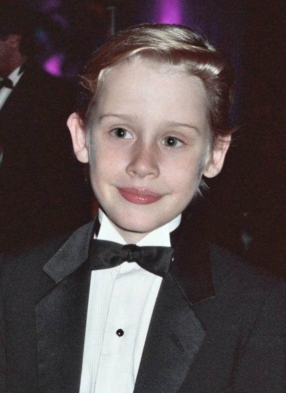 Macaulay Culkin in a tuxedo
