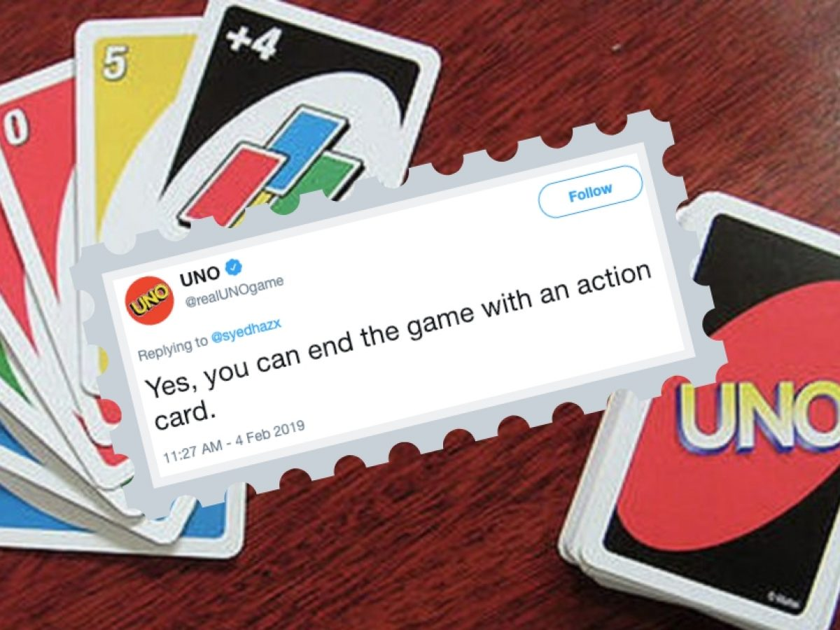 UNO Has Confirmed That You Can End The Game With An Action Card