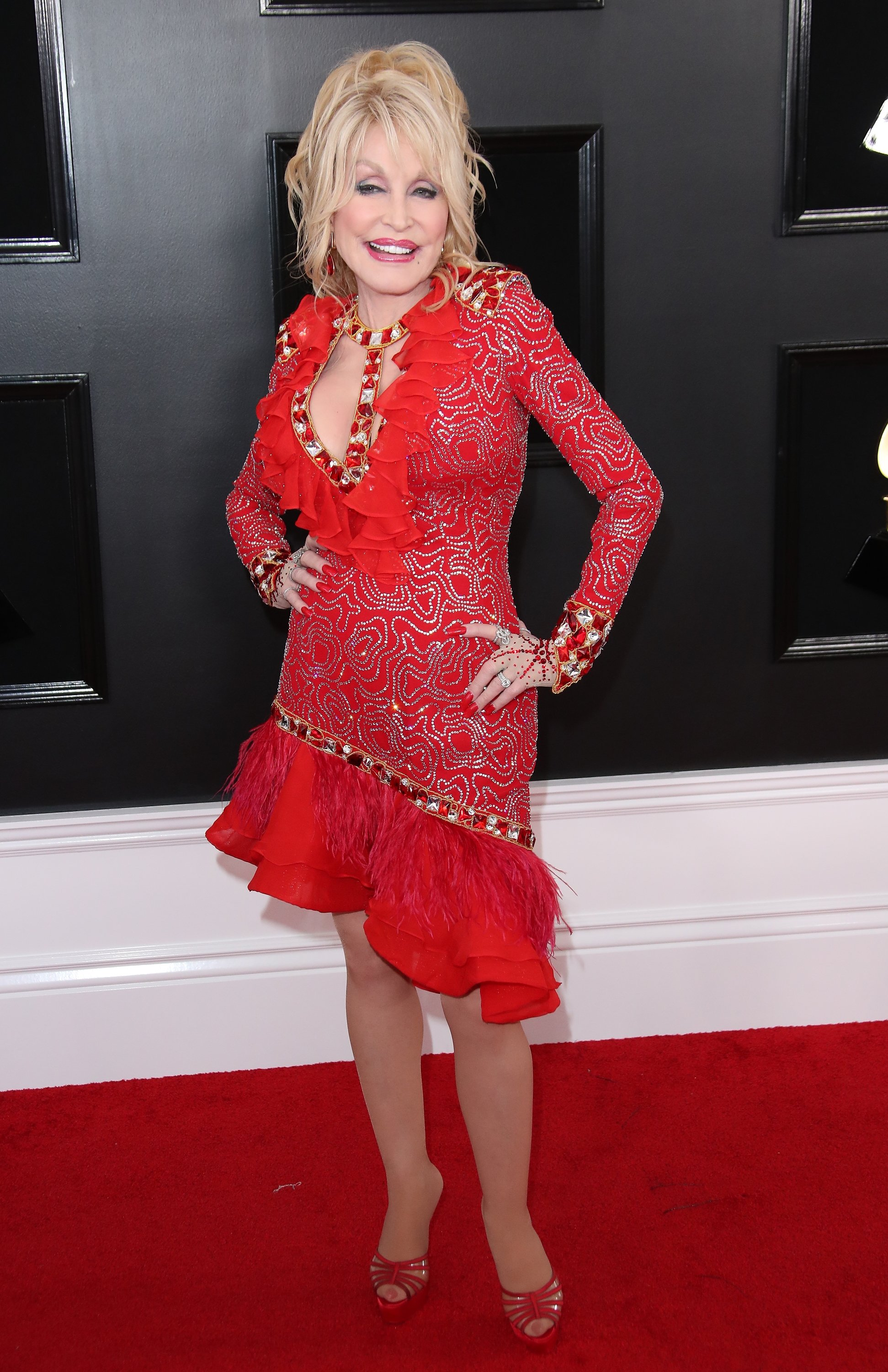 dolly red dress