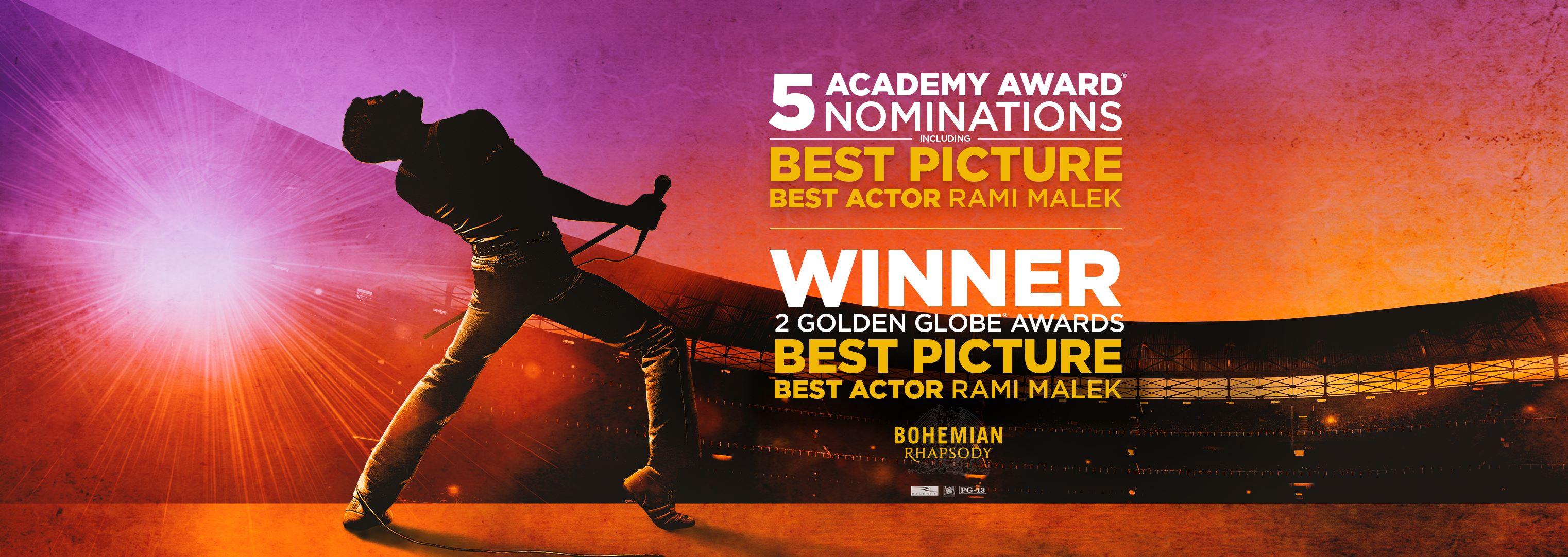 bohemian rhapsody oscar nominations