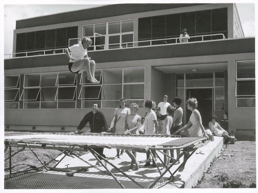 vintage trampoline