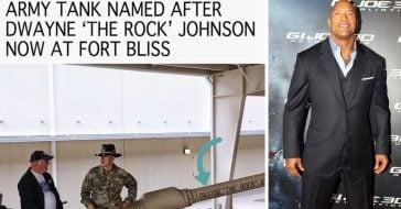 dwayne johnson army tank