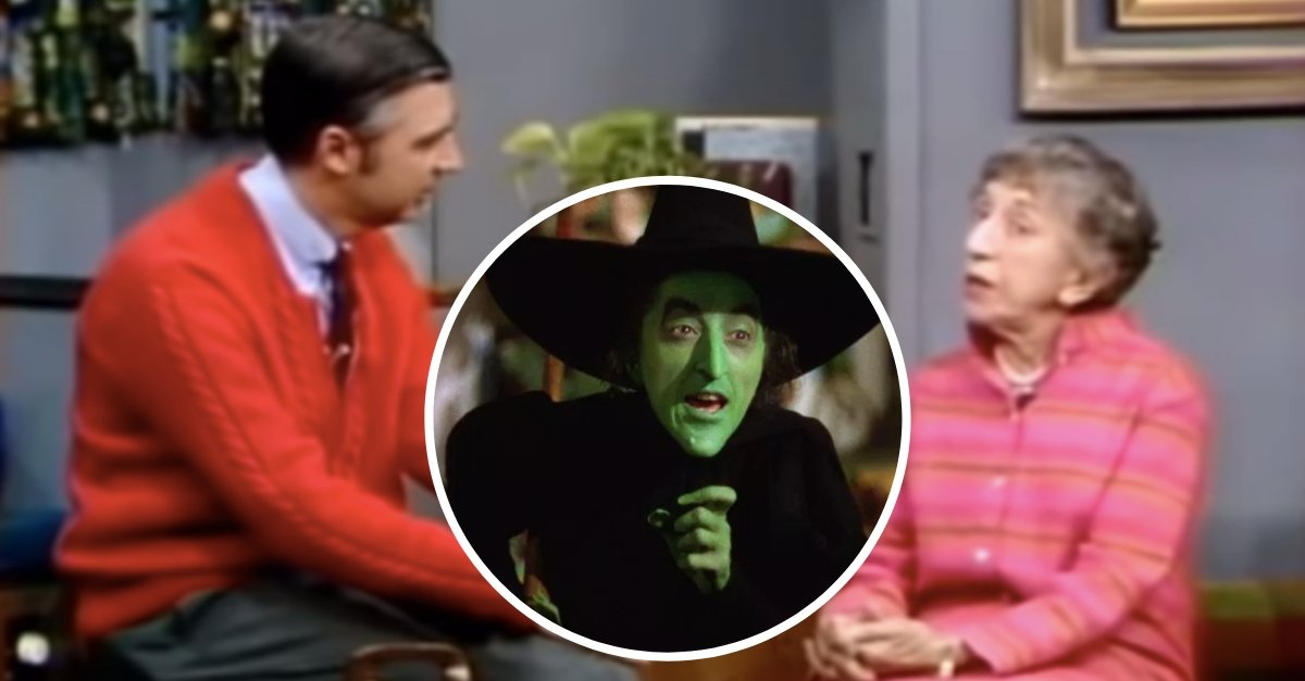 WATCH: Mr. Rogers Talks To The Original Wicked Witch Of The West, Margaret Hamilton
