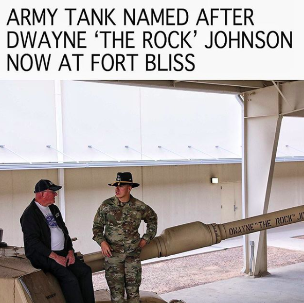 army tank named after dwayne johnson