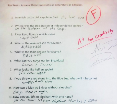 12 Young Students Whose Test Answers Are Too Hilarious For Words